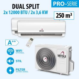 MITSUI PRO DOUBLE 2X12000BTU (A++) 250m3