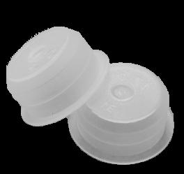 PLASTIC EINDKAP 1/4 (10ST)