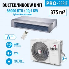 DUCTED 36000BTU (3PHASE)(A++) 375m3